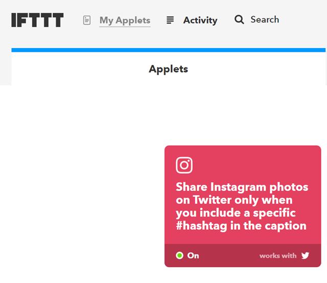 IFTTTのマイアプレット