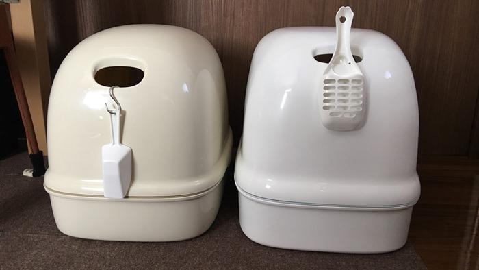 ニャンとも清潔トイレのドーム取っ手位置