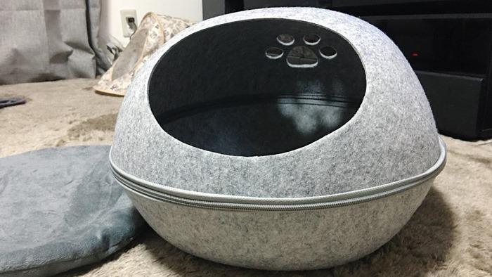 ドーム型キャットハウス(猫用ベッド)の組み立て