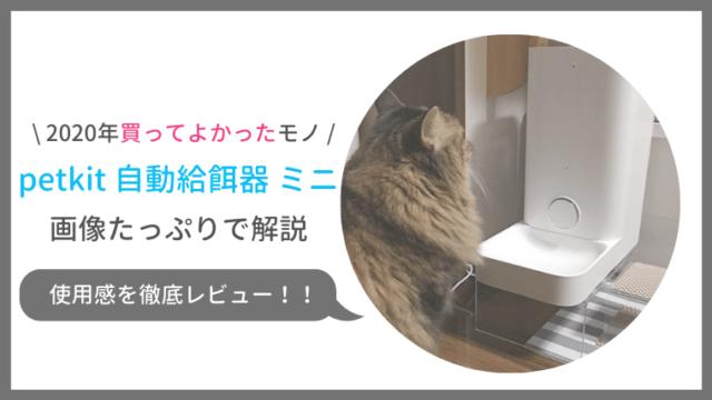 petkit自動給餌器ミニの口コミ評判をレビュー!洗い方や乾燥剤の予備は?